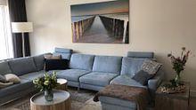 Photo de nos clients: Symétrie des brise-lames sur Desiree Tibosch, sur toile