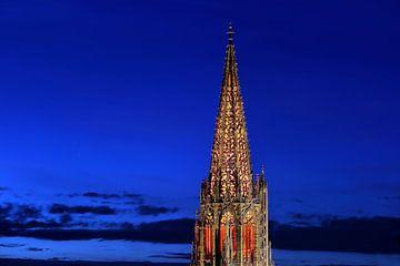 Münsterturm Freiburg Illuminiert von Patrick Lohmüller