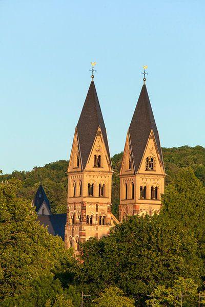 Basilika St. Kastor im Abendlicht, Koblenz, Rheinland-Pfalz, Deutschland, Europa von Torsten Krüger