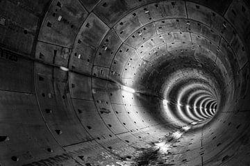 Tunnel Noord- Zuidlijn, Amsterdam van Stefan Witte