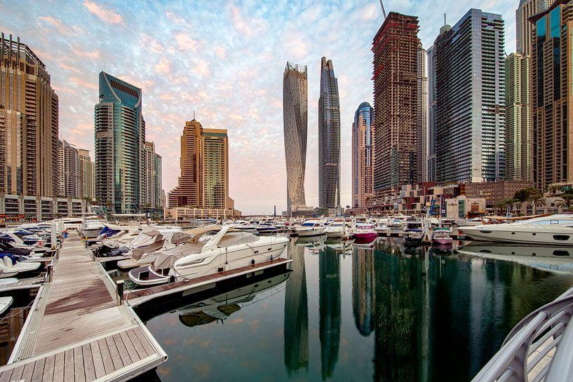 Marina Morning - Dubai van Rene Siebring