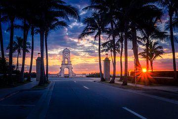 Mooie zonsopkomst in West Palm Beach in Florida USA van Alexander Mol