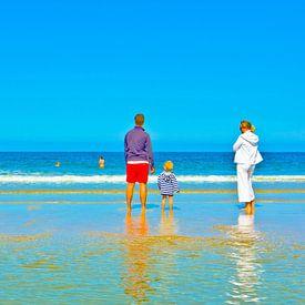 Une idylle familiale sur la plage sur Norbert Sülzner