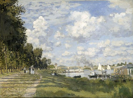Claude Monet. Le bassin d'Argenteuil van 1000 Schilderijen