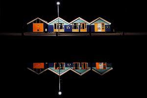 Haven bij nacht van