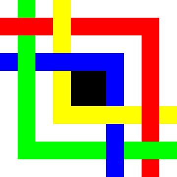 Onder en boven | Permutatie | ID=10 | V=32 | 4xL | P #01-E van Gerhard Haberern