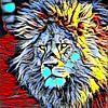 Color Kick Animal - Lion King van Angelika Möthrath thumbnail
