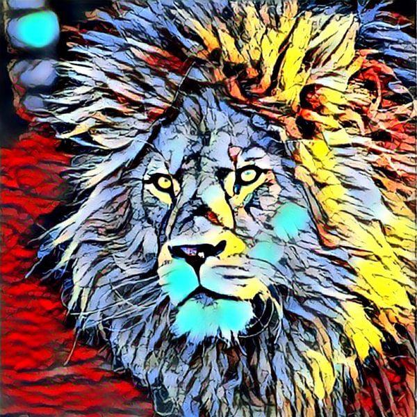 Color Kick Animal - Lion King van Angelika Möthrath