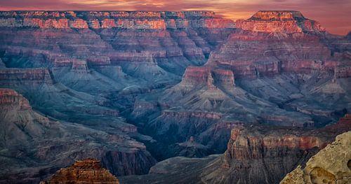 zonsondergang boven de Grand Canyon van