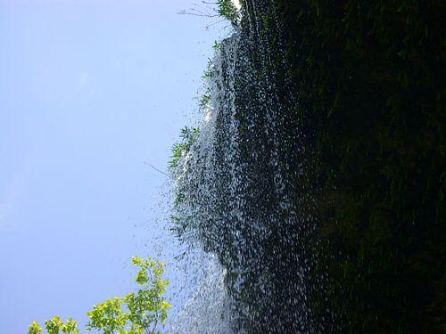 Waterval bij Hamilton Pool, Austin, Texas van Gerrie Tollenaar