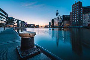 Zonsopgang in de stadshaven van Münster