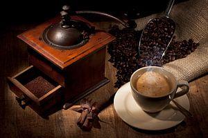 Sfeervolle plaat van koffie