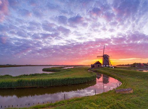 Molen het Noorden Texel Zonsondergang sur