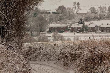 Bulkemstraat Simpelveld in de sneeuw