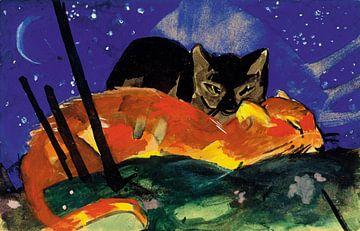 Twee katten, Franz Marc