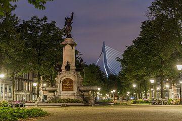 Burgemeester Hofmanplein op het Noordereiland in Rotterdam van Peter Hooijmeijer