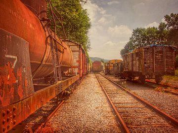 Verlaten treinen urbex van Creativiato Shop
