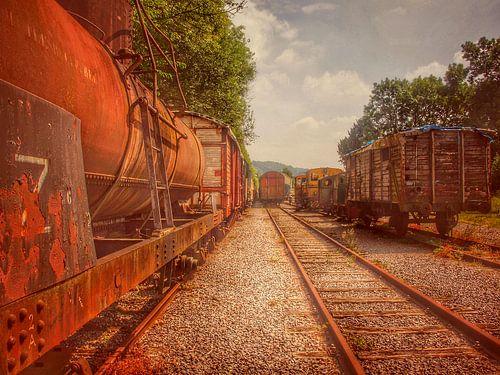 Verlaten treinen urbex van