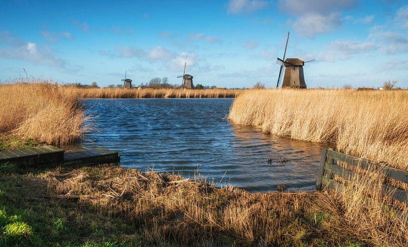 Drie molens bij Schermerhorn  van Fotografie Egmond