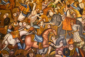 Muurschildering Iran van Jeroen Kleiberg