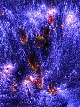 Tiefsee mit  Biolumineszenz von Max Steinwald