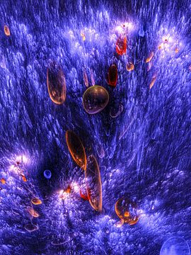 En haute mer avec bioluminescence sur Max Steinwald