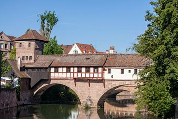 Henkersteg, vieille ville, Nuremberg, Bavière, Allemagne, Europe sur Torsten Krüger