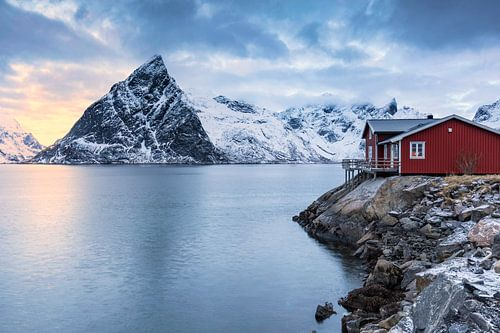 Rotes Haus am Meer van Tilo Grellmann