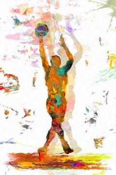 speler van het basketbal II van Marion Tenbergen