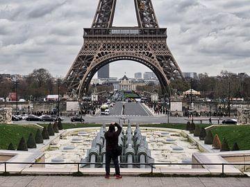 Gefotografeerde Eiffeltoren van