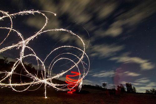 Lightpainting 5 van Eugene Klinkenberg