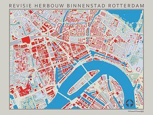Revisiekaart van de Wederopbouw van Rotterdam van Frans Blok