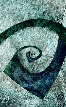 Abstrakte Spirale van Rosi Lorz