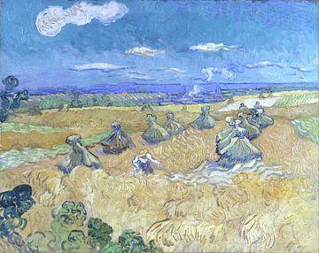 Weizenfelder mit Schnitter, Vincent van Gogh
