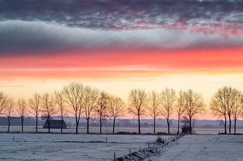 Winter in Nederland van Mark Bolijn