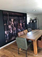 Klantfoto: Koeien in oude koeienstal van Inge Jansen, als print op doek