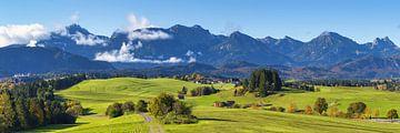 Alpenvoorland bij Füssen van Walter G. Allgöwer