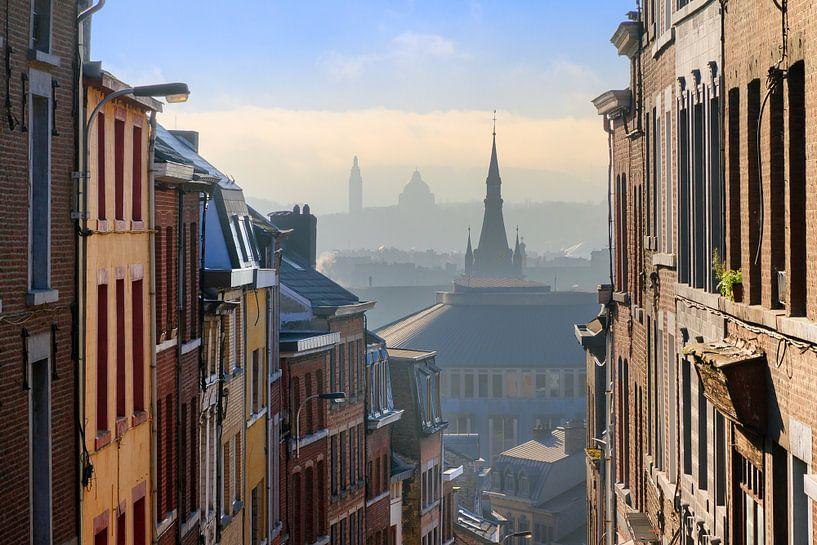 Luiks stadsgezicht winter van Dennis van de Water