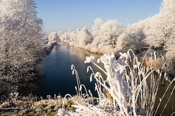 Winterbild Überschwemmungskanal Tiel von René Weijers