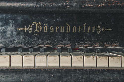 Close up van een piano