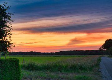 Sonnenuntergang, was haben Sie für schöne Farben von J..M de Jong-Jansen