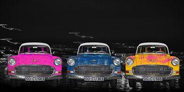 Opel Olympia recordkaravaan bij nacht van aRi F. Huber