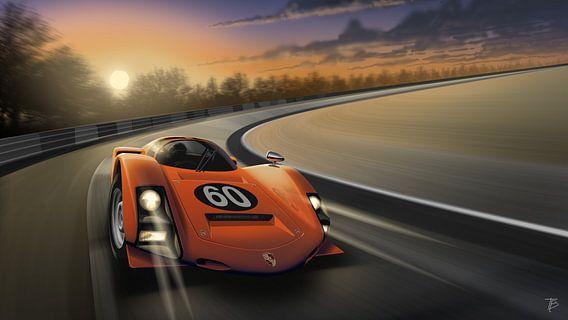 Porsche 906 N°60 orange