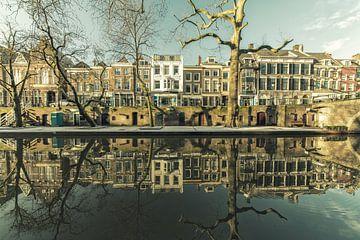 Het oude Tivoli aan de Oudegracht van Utrecht in de winter van De Utrechtse Grachten