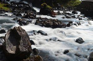 Rots in het water van