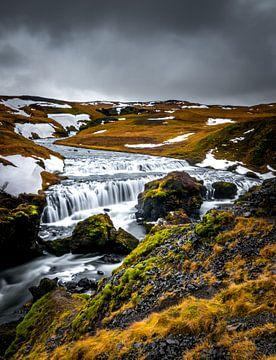 Wasserfall über Skogafoss von