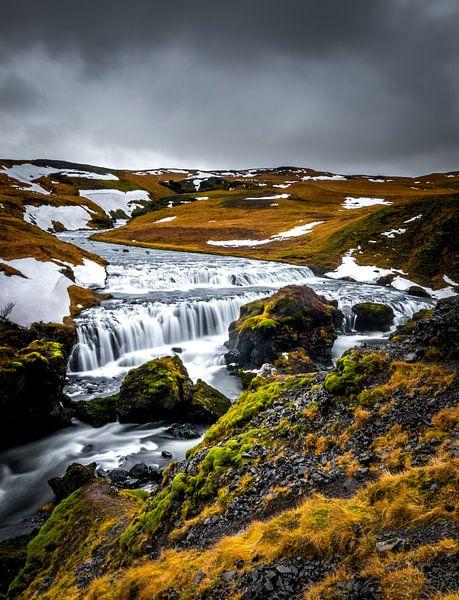 Waterval boven Skogafoss van Erik Keuker