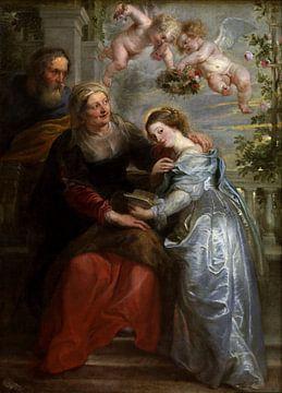 Die Unterrichtung von Maria, Nach Peter Paul Rubens