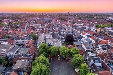 Überblick über Amersfoort während des Sonnenaufgangs von Dennisart Fotografie