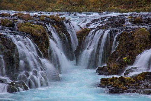 Bruarfoss IJsland van